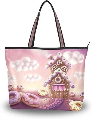 Fairytale Feather Womens Leather Handbag Shoulder Bag Satchel Handbags Leather Tote Purse Women Handle Handbags