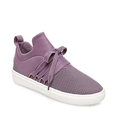 bd746832358 Steve Madden Womens Lancer Low Top Casual Shoes Purple 5.5 Medium (B