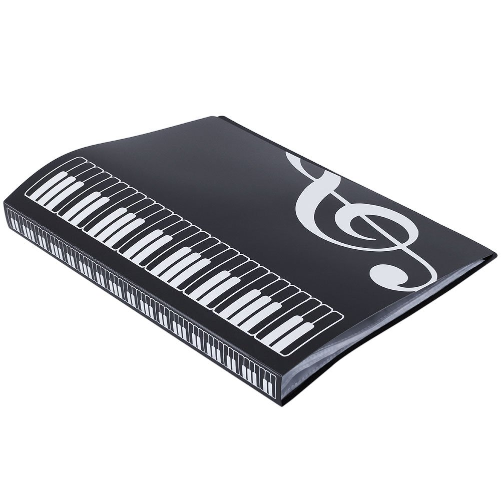 Music Sheet File Paper Documents Storage Organzier Folder Holder Plastic Black