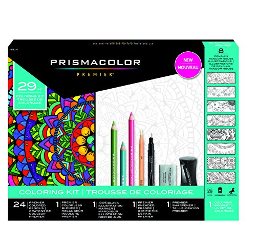 (Complete Toolkit With Colored Pencils And 8 Page Coloring Book )