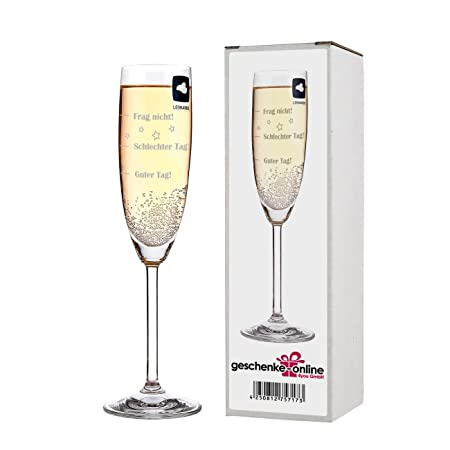 Leonardo Champagne Glass With Free Engraving Good Day