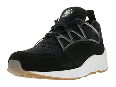 Nike Mens Air Huarache Light Black/White/Gum Light Brown/White 306127-