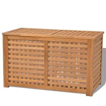 Wäschekorb Holz vidaxl massivholz wäschetruhe wäschebox wäschekorb walnuss holz 77