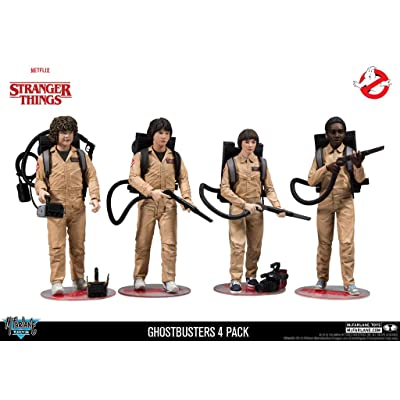 McFarlane Netflix Stranger Things Ghostbusters Dustin Mike Will Lucas 4 Pack Exclusive Set: Toys & Games