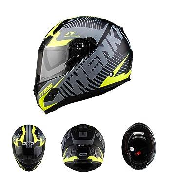 Casco De La Motocicleta De La Cara De Nenki Full Face Que Compite con El Material