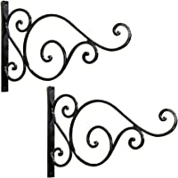 Wall Bracket for Bird Feeders & Houses Planters Lanterns Wind Chimes Hanging Baskets Ornaments String Lights, As Wall Brackets & More! Set of 2