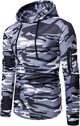 Abetteric Men Slim Casual Long Sleeve Juniors Hoodies with Pockets