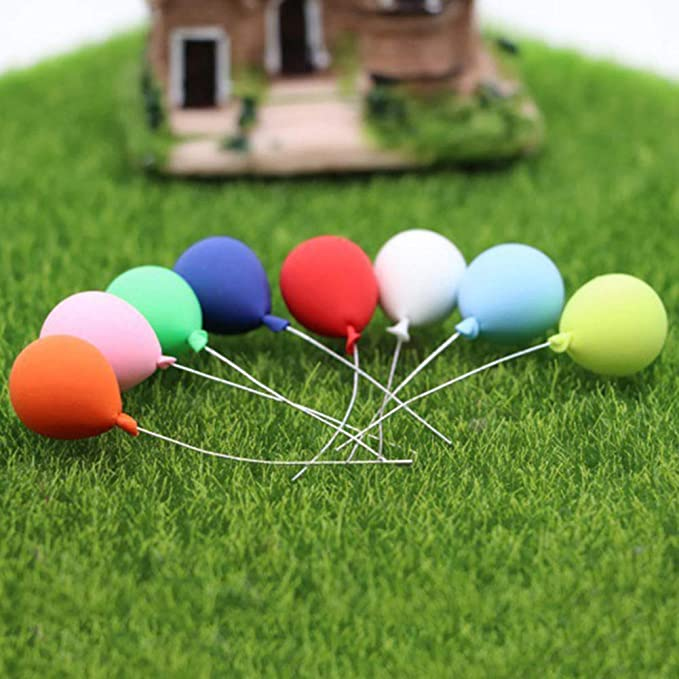 8PCS//Set 1:12 Dollhouse Miniature Balloon Birthday Party Foam ation Hot Ba Y5Q5
