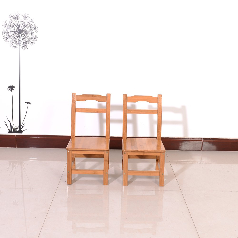 Azadx Bamboo Table and 2 Chairs Set - Kid's Furniture for Playing Reading Drawing Writing Eating Wood Color by Azadx (Image #8)