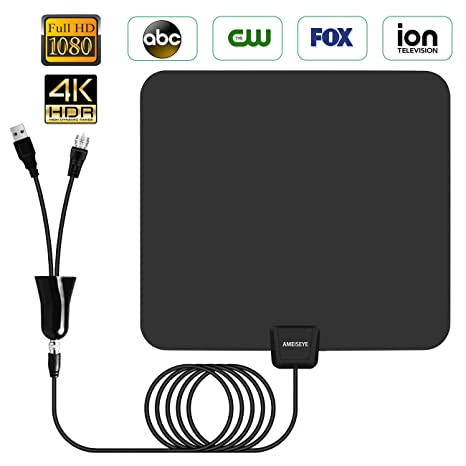 Digital Amplified HD TV Antenna 50-80 Mile Range -[Upgraded 2018] Support  4K 1080p and All TV's w/Detachable HDTV Amplifier Signal Booster Purple