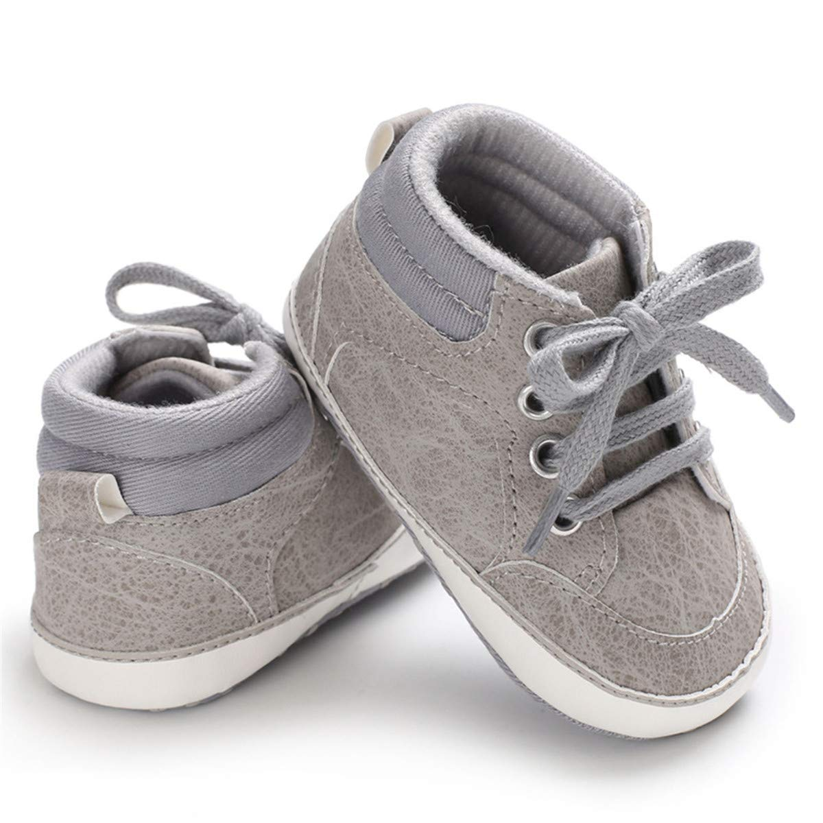 Baby Girls Boys Canvas Shoes Soft Sole Toddler First Walker Infant High-Top Ankle Sneakers Newborn Prewalker Crib Shoes