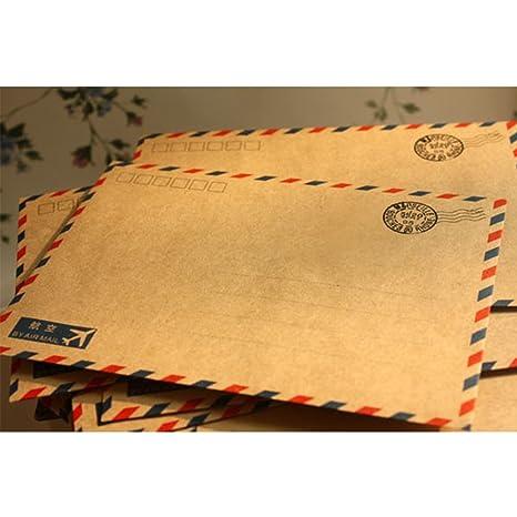 Jiayuane Sobres de Correo aéreo Vintage para Postales ...