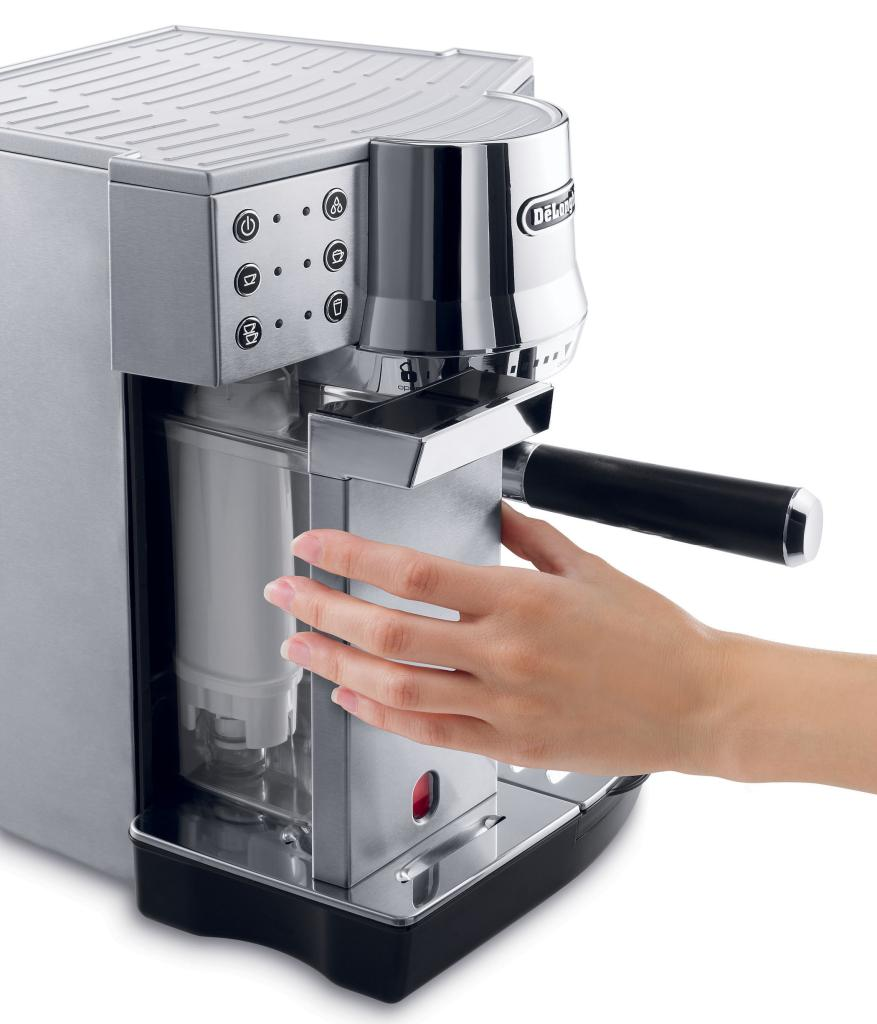 Coffee Maker Stainless Steel Inside : DeLonghi EC860 Dedica Cappuccino 15 Bar Espresso and Cappuccino Machine with One Touch ...