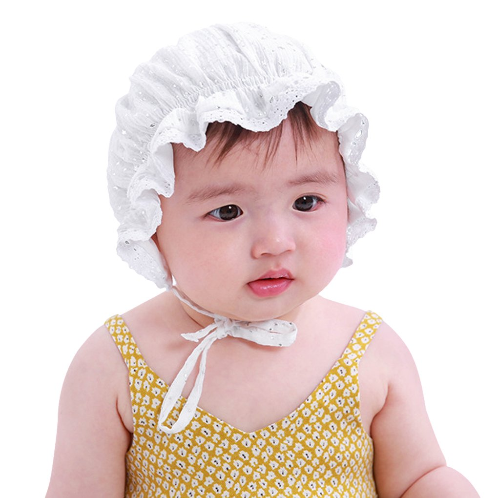 MioCloth Flower Baby Bonnet Newborn Lace Cotton Infant Kid Stars Sun Hat Child Headwear