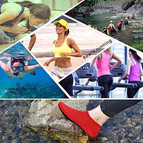 BTDREAM Men and Women's Quick-Dry Barefoot Water Skin Shoes Aqua Socks For Beach Swim Surf Yoga Water Aerobics