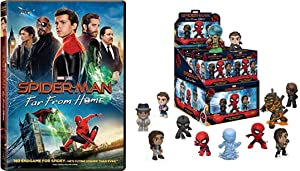 Spidey TCB All Over The World: Spider-man Movie W/ Figure Bundle: Spider-Man Far From Home DVD + Funko Mystery Minis Far From Home Blind Box