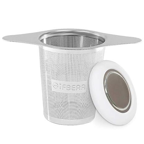 Amazon.com: Infusor de té de acero inoxidable con colador de ...