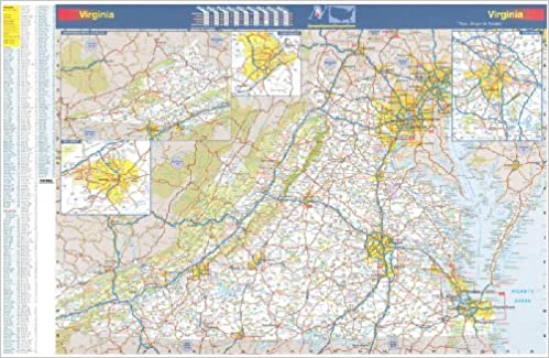 X Virginia State Official Executive Laminated Wall Map VA - State map of virginia