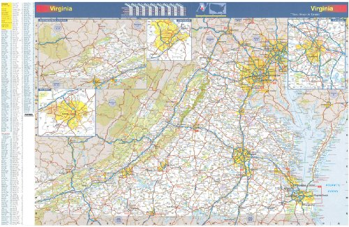 36x54 Virginia State Official Executive Laminated Wall Map