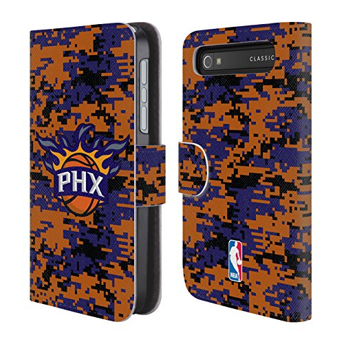 Official NBA Digital Camouflage Phoenix Suns Leather Book Wallet Case Cover For BlackBerry Classic (Phoenix Suns Black Leather)