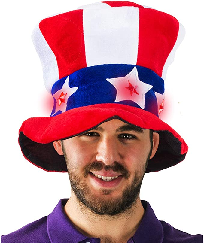 4th of July Costume Accessory Mad Hatter Adult Teen Uncle Sam Hat