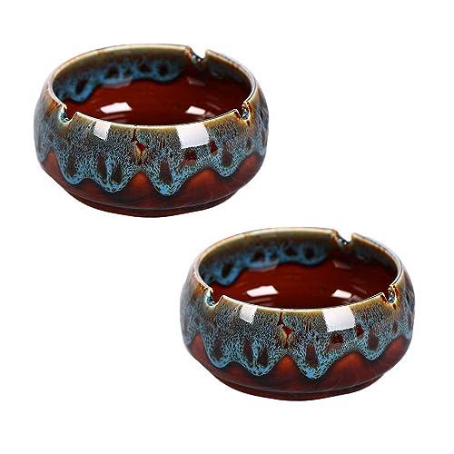 Ceniceros de cerámica Brillantes Redondos Grandes Bandeja de ...