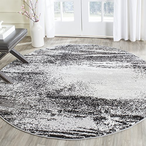 Safavieh Adirondack Collection ADR112G Silver and Multi Modern Abstract Round Area Rug (4' (Round Accent Rug)