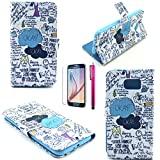 iPhone 5C Case, JCmax [2 Layer Protection] Hard Leather Case [Wallet Feature] [Build In Stand] Shock Resistant Ultra Lightweight For iPhone 5C-(1 x screen protector film 1 x stylus pen)Okey