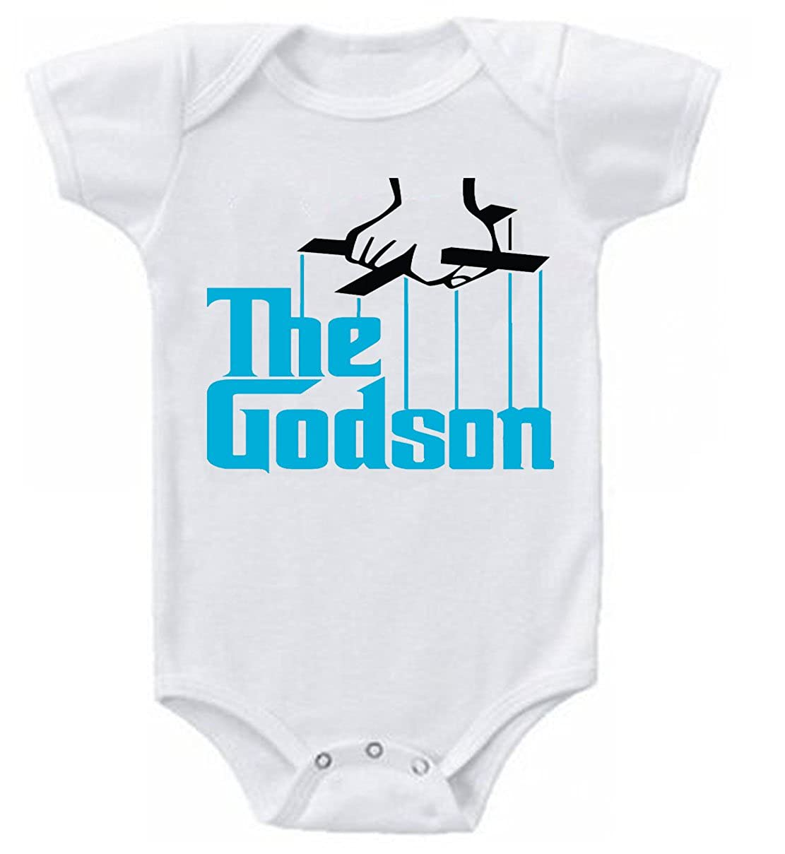 4d02186f6 Dazzle The Godson Funny Baby Onesie Bodysuit (12-18 Months, White ):  Amazon.ca: Clothing & Accessories