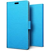 SLEO Case for Huawei NOVA 2, Luxury Wallet Flip PU Leather Protective Case Cover with Card Slot and Stand Feature for Huawei NOVA 2 -Blue