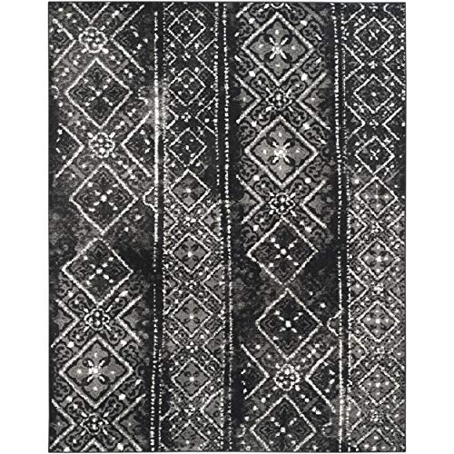 Safavieh Adirondack Collection ADR111C Black and Silver Contemporary Bohemian Distressed Area Rug (8' x 10')