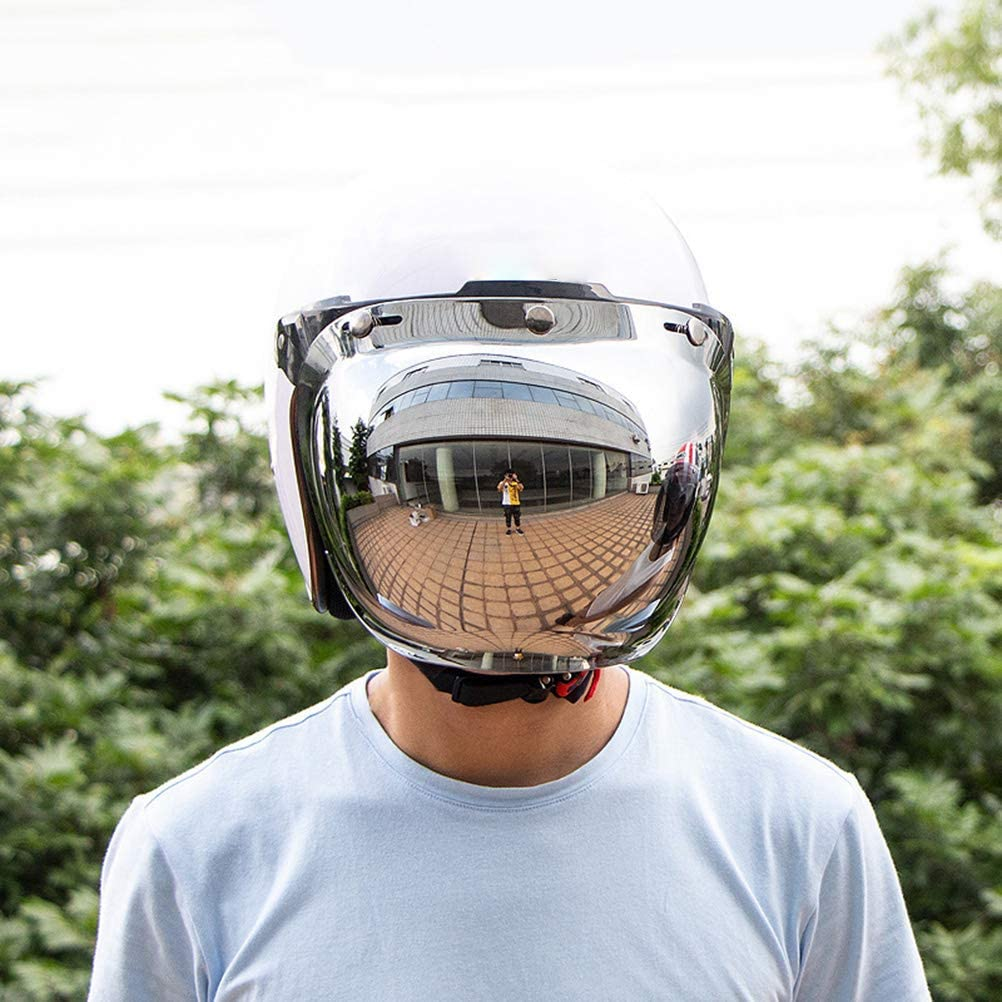 Creacom Casco Moto con Visiera 3-Snap Bubble Wind Visiera Snap