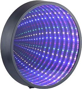 Chibuy Infinity Mirror Tunnel Light LED Night Light 3D Mirror Wall Hanging Lights Desktop Lamp Wedding Festival Party Decoration Light Sign Illusion Night Light Tunnel Mirror Light (Battery Powered)