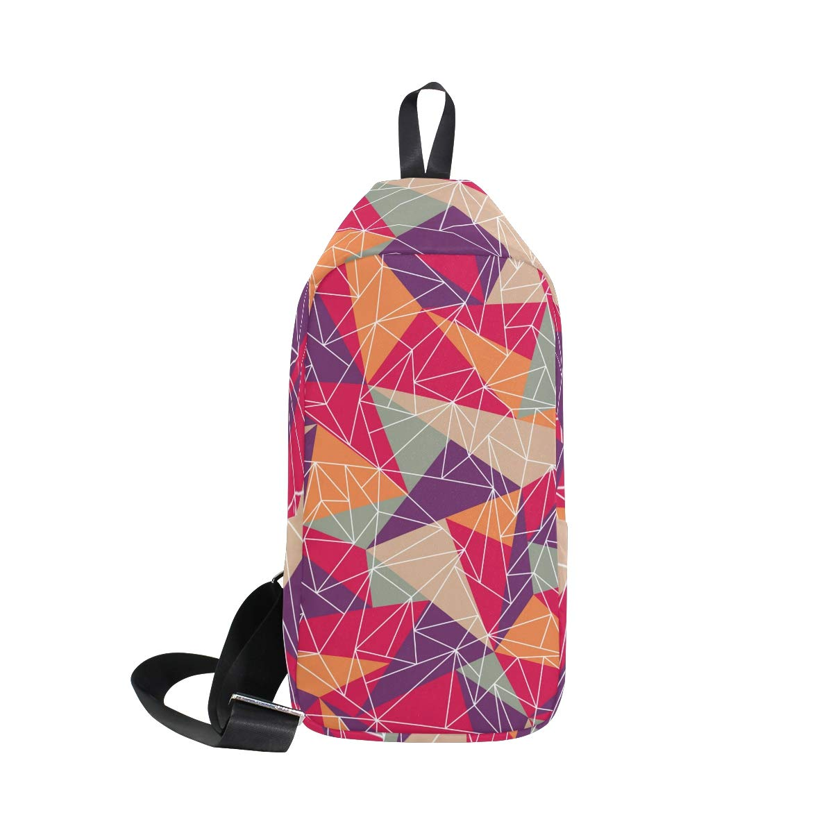 Unisex Messenger Bag Geometric Triangle Shoulder Chest Cross Body Backpack Bag