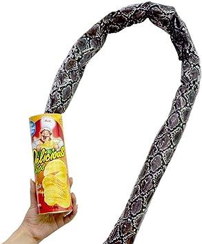 SIMUER Jouets Prank Pomme de Terre Chips Serpent Jouet D/élicat Jouet Funny Joke Jump Pop Out Printemps Avril Fool Day Party Supplies