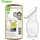 Haakaa 4oz/100ml Silicone Breast Pump with Suction Base 100% Food Grade Silicone BPA PVC and Phthalate Free