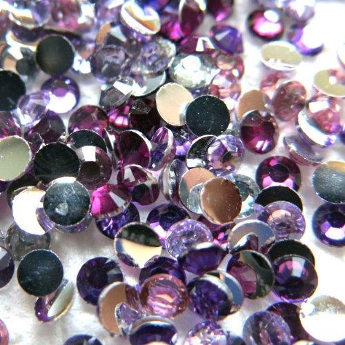 Beading Station 1440-Piece BSI Gradual Purple-Pink Mix Flat Back Rhinestones, 3mm-10ss (Purple Pink Rhinestone)