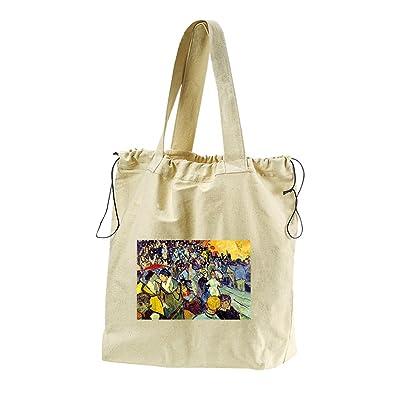 The National Lottery (Van Gogh) Canvas Drawstring Beach Tote Bag
