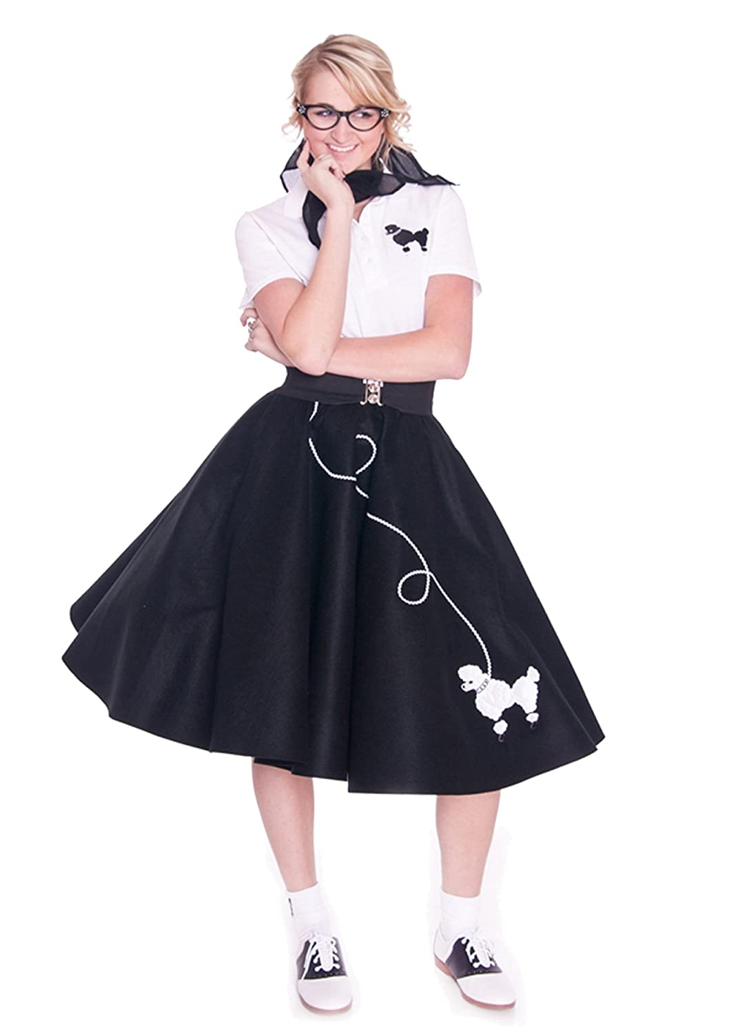 1950s Costumes- Poodle Skirts, Grease, Monroe, Pin Up, I Love Lucy Hip Hop 50s Shop Adult Poodle Skirt $44.84 AT vintagedancer.com