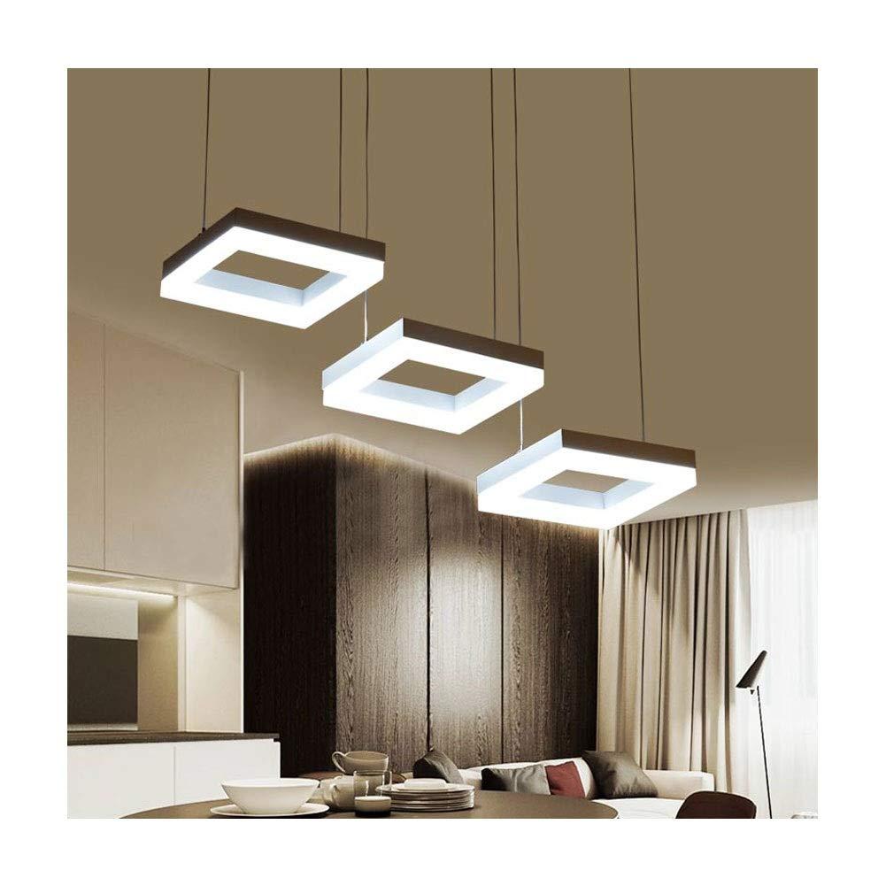 THOR-YAN - ペンダントライト シャンデリア鍛造アルミ高品質現代のシャンデリア3つのシンプルなアクリル照明器具ペンダントライト B07SC1VN37