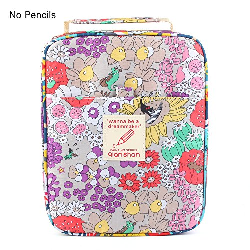 Universal Pencil Bag organizer for 100 120 132 144 150 colored Pencils slots holder pen case School Stationery PencilCase Drawing Painting Storage shell Pouch pencil box qianshan (not pencils) autumn