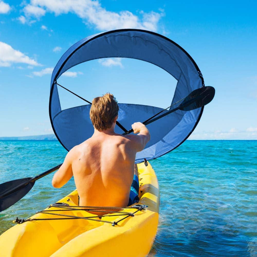 Foldable Kayak Boat Wind Sail Sup Paddle Board Sailing Canoe stroke RowingBoRSDE