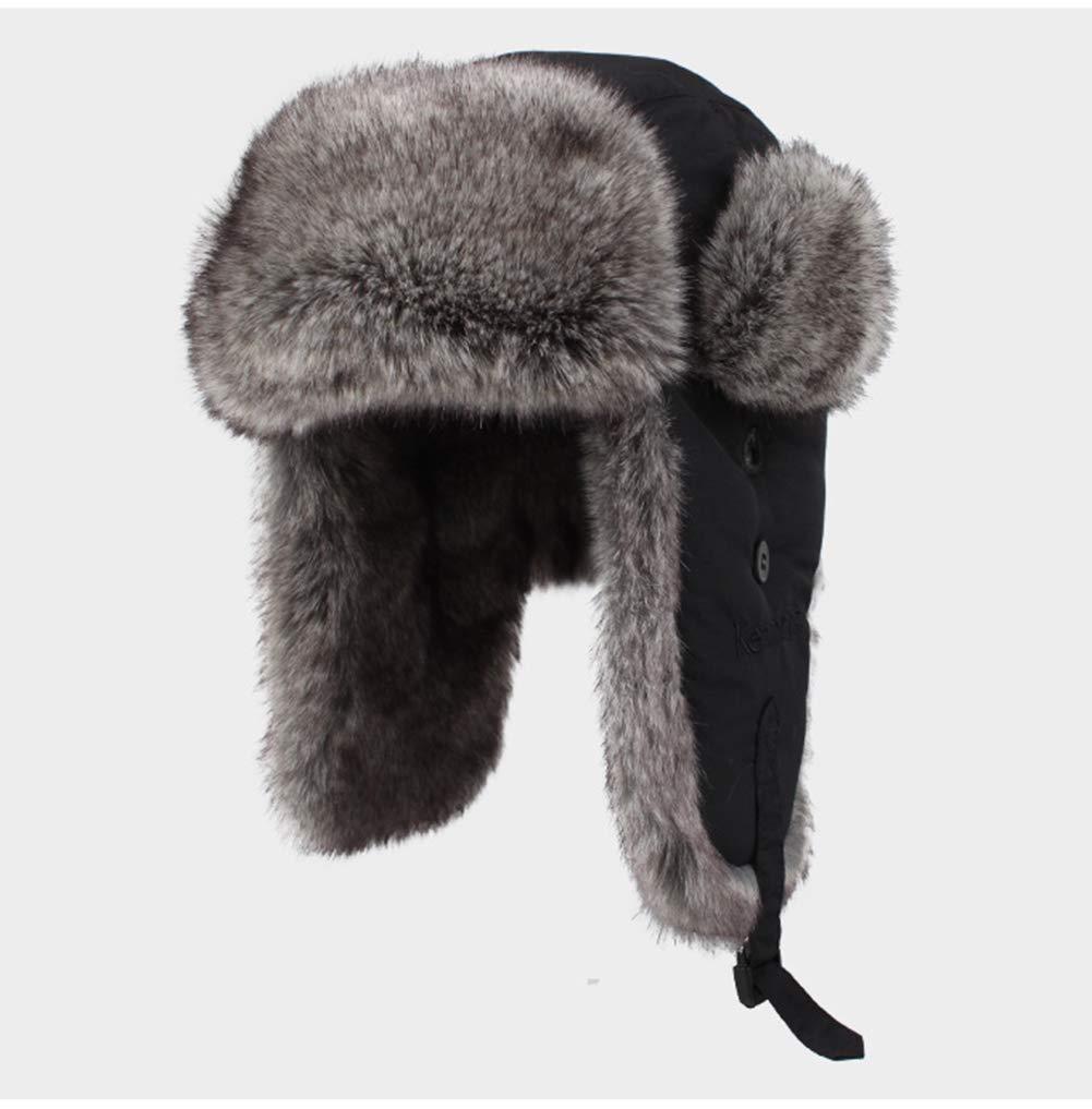 LYJNBB Winter Pelz Uschanka, Russischer Stil Maske Jagd Ski Wasserdichter Hut Windundurchlässige Pilotenmütze Für Piloten