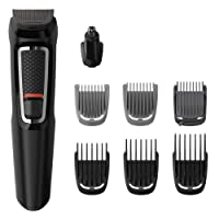 Philips Series 3000 Multigroom 8-in-1 Face & Hair Trimmer, Black