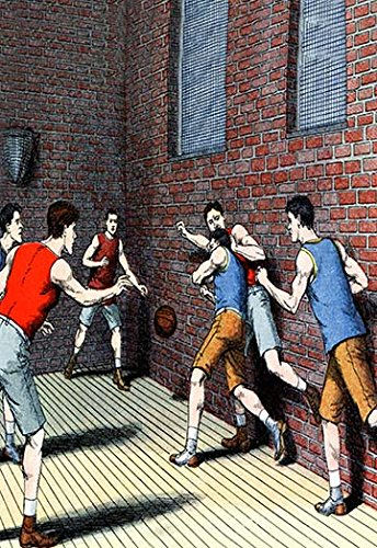 "Buyenlarge Getting Physical on The Basketball Court - 8"" X 12"""" Fine Art Giclee Print"