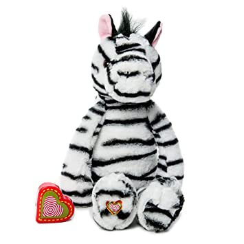 My Baby's Heartbeat Bear - Vintage Stuffed Zebra with a 20 Second  Voice/Sound Recorder