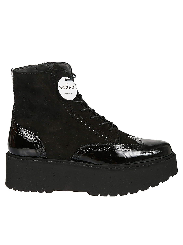 Hogan Damen HXW3550A01025QB999 Schwarz Leder Stiefeletten