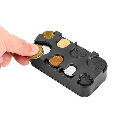 OurLeeme Moneda Interior del Coche sostenedor de la Caja de Almacenamiento envase de la Caja del