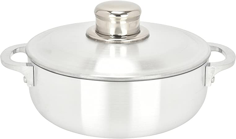 ALUMINUM CALDERO STOCK POT by Chef Pro Perfect For Serving Large and Small Groups Superior Cooking Performance for Even Heat Distribution 3.8 Quart Riveted Handles Aluminum Commercial Grade