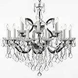 Swarovski Crystal Trimmed Chandelier! 19th C. Rococo Iron & Crystal Chandelier Lighting H 28″ x W 30″ Review